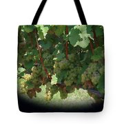 Green Grapes On The Vine 16 Tote Bag
