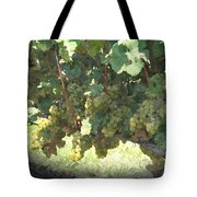 Green Grapes On The Vine 17 Tote Bag