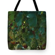 Green Grapes On The Vine 4 Tote Bag
