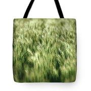 Green Growing Wheat Tote Bag