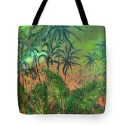 Green Of The Night Tote Bag
