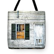 Green Shutters Tote Bag by Kendall McKernon