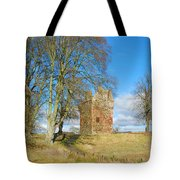 Greenknowe Tower In Late Winter Sun Scottish Borders Tote Bag