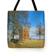 Greenknowe Tower In Winter Sun, Scottish Borders Tote Bag