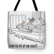 Greeting Card Get Well-all Wrapped Up Tote Bag