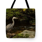 Grey Heron Fishing Tote Bag