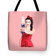 Hairdresser Woman Shooting A Cool Haircut In Style Tote Bag