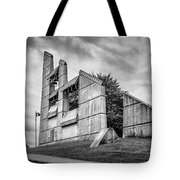 Halifax Explosion Memorial Bell Tower Bw Tote Bag