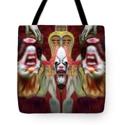 Halloween Scary Clown Heads Mirrored Tote Bag