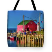 Halls Harbour Nova Scotia Tote Bag