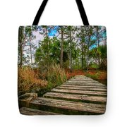 Halpatiokee Footbridge Tote Bag by Tom Claud