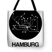 Hamburg Black Subway Map Tote Bag