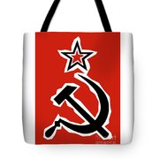 Hammer And Sickle Grunge Tote Bag
