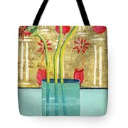 Indian Hand Painted Palace Wall Tote Bag