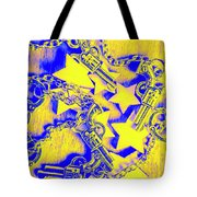 Handguns, Chains And Handcuffs Tote Bag