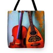 Hanging Violin And Mandolin Tote Bag