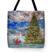 Happy Christmas Parrot Tote Bag