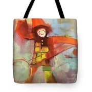 Happy Clown Tote Bag by Michelle Abrams