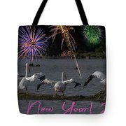 Happy New Year 2019 - Four Pelicans Tote Bag