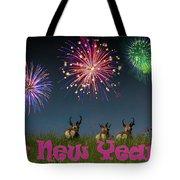 Happy New Year 2019 - Three Pronghorn Antelope Tote Bag