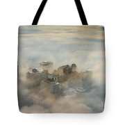 Harborview In The Clouds Tote Bag