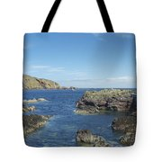 harbour entrance at St. Abbs, Berwickshire Tote Bag