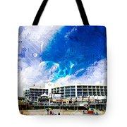 Hard Rock Beach Abstract Tote Bag