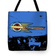 Harley Davidson Tank Logo Blue Artwork Tote Bag