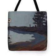 Harmony Beach Fog And Rain Tote Bag