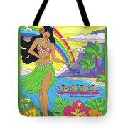 Hawaii Poster - Pop Art - Travel Tote Bag