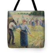 Haymaking At Eragny, 1891 Tote Bag