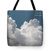 He Is No Fool Who Gives Up What He Cannot Keep To Gain What He Cannot Lose Tote Bag