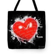 Heart Art Tote Bag