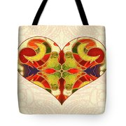 Heart Illustration - Creating Passionate Experience - Omaste Witkowski Tote Bag by Omaste Witkowski