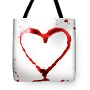 Heart Shape From Splaches And Blobs Tote Bag