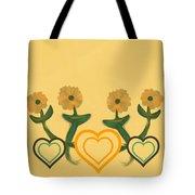 Hearts Bronze Tote Bag