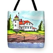 Heron Neck Lighthouse- Maine Tote Bag