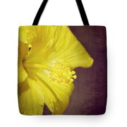 Hibiscus Yellow Tote Bag by Carolyn Marshall