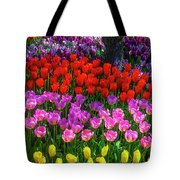 Hidden Garden Of Beautiful Tulips Tote Bag