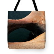 High Angle View Of A Pothole Arch Tote Bag