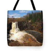 High Falls Rainbow Tote Bag by James Peterson
