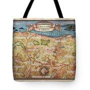 Hiking Map El Camino Spain Map Custom Map Art Tote Bag