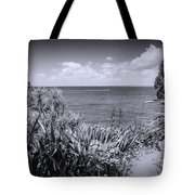 Hiking On Tiritiri Matangi New Zealand Bw Tote Bag