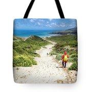 Hiking To Sandfly Bay New Zealand Tote Bag
