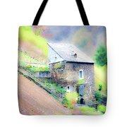 Hillside Cottage Tote Bag by Fran Riley