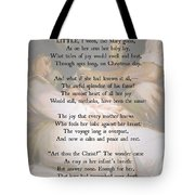 His Mother's Joy Tote Bag