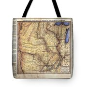 Historical Map Hand Painted Arkansaws Territory Tote Bag