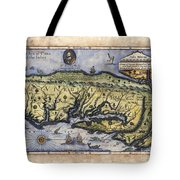 Historical Map Hand Painted Italy Vintage Tote Bag