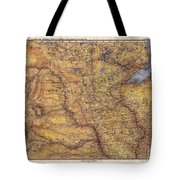 Historical Map Hand Painted Lake Superior North Dakota Minnesota Tote Bag