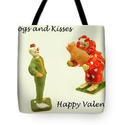Hogs And Kisses Clown Valentines Tote Bag